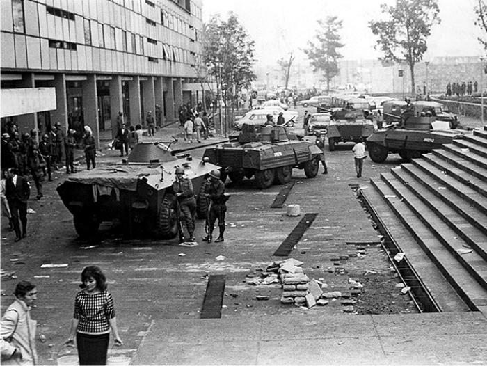 La matanza de Tlatelolco. Foto: Cordon.