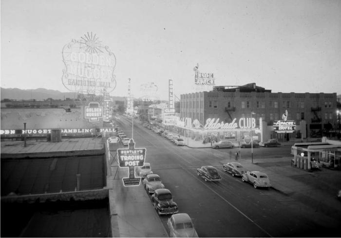 Las Vegas alrededor de 1947. Foto: DP.