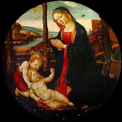 La Virgen con el Niño y San Juan infante ciclado.