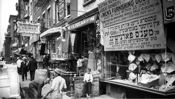 Migrantes judíos en Nueva York a principios del siglo XX. Foto: DP.
