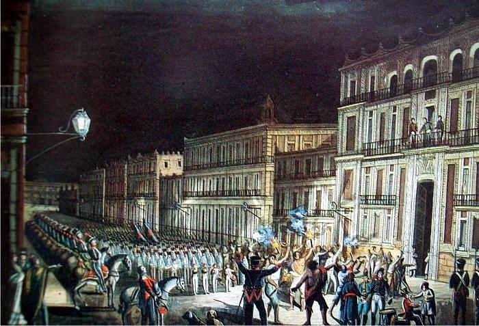 Proclamación de Iturbide el 19 de marzo de 1822, autor desconocido. (DP)