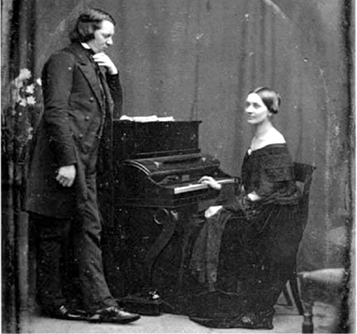 Robert Schumann y Clara Wieck. Foto: DP.