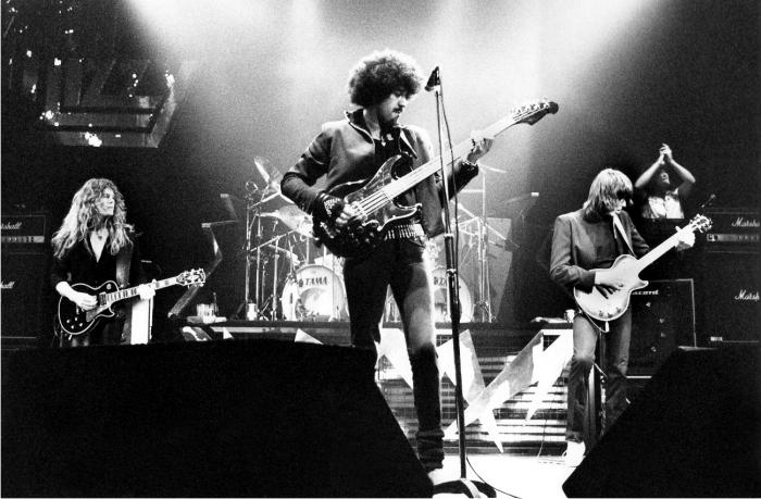 Thin Lizzy facturaron una de las obras más apreciadas de la edad de oro de los dobles discos en supuesto directo. Foto: Vertigo.