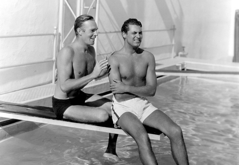 Cary Grant y Randoph Scott en su casa de Malibú, 1935. Fotografía: Cordon Press.