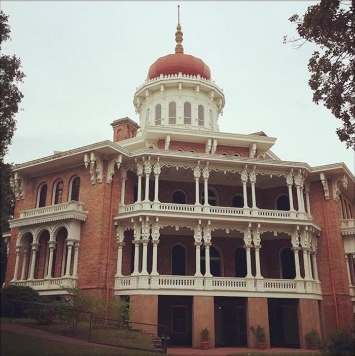 La mansión Longwood, en Natchez, la casa octogonal más grande de Estados Unidos.