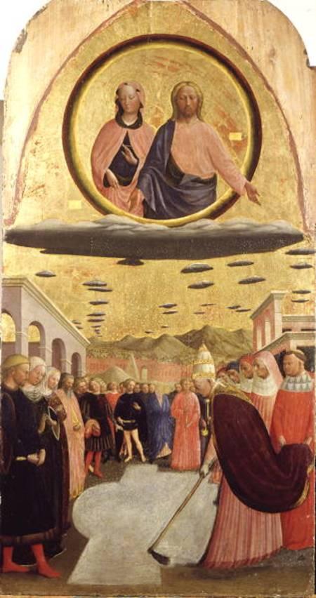 Leyenda de la fundación de la basílica por el milagro de la nieve.