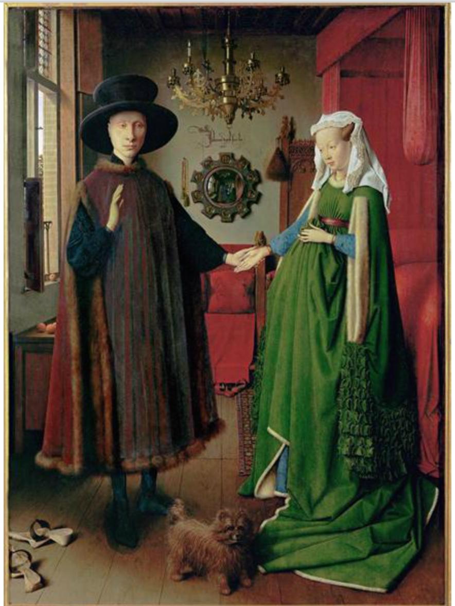 Retrato de Giovanni Arnolfini y su esposa.