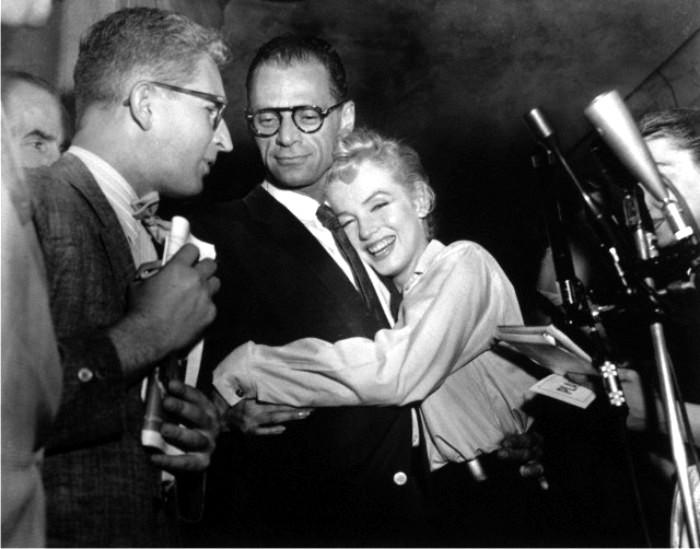 Marilyn Monroe y Arthur Miller. Foto: Corbis.