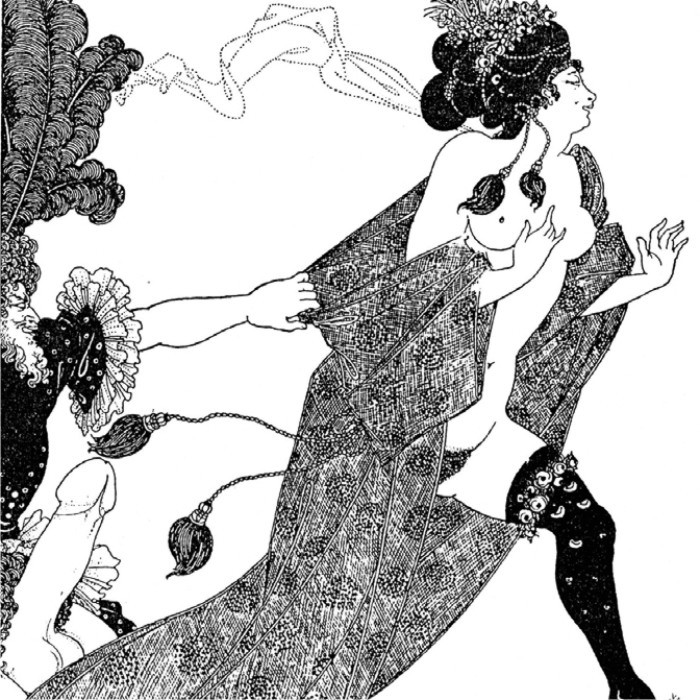 Aubrey Beardsley, Cinesias Entreating Myrrhina to Coition, en Lysistrata, 1896.