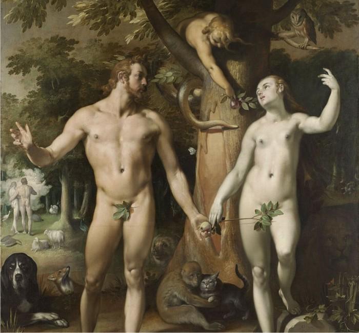 De zondeval, por Cornelis van Haarlem. (DP)