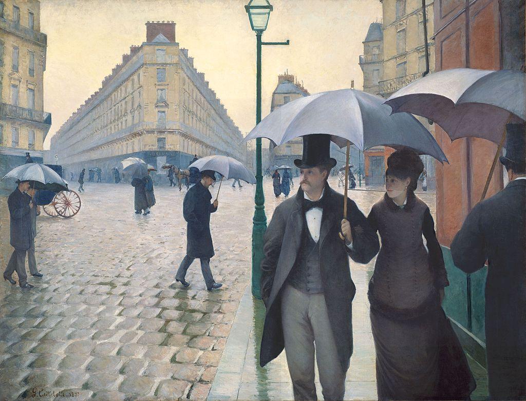 Rue de Paris, temps de pluie, DE Gustave Caillebotte, 1877. Imagen: (DP).