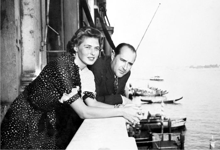 Ingrid Bergman y Roberto Rossellini. Foto: Corbis.
