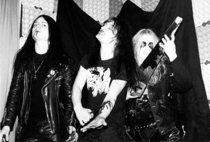 Euronymous, Necrobutcher y Dead, premonitorios. Fotografía cortesía de ablackmetalblog.