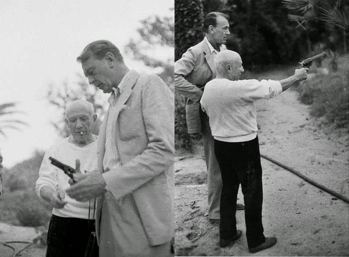 Picasso y Cooper. Fotografías de cortesía de Jack Brummet.