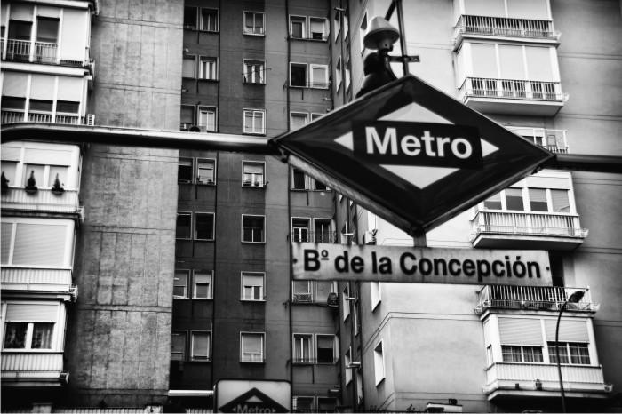 Boca del metro de Barrio de la Concepción.