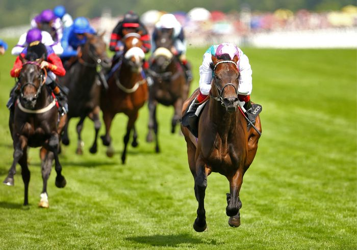 Time Test ridden by Frankie Dettori comes home to win the Tercentenary Stakes during Ladies Day, on day three of the 2015 Royal Ascot Meeting at Ascot Racecourse, Berkshire.