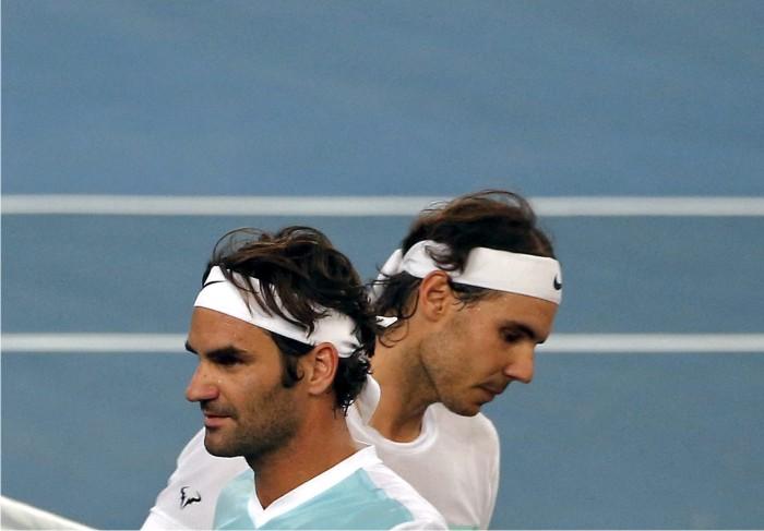 Roger Federer y Rafa Nadal. Foto: Cordon.