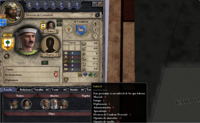 Monnio de Cantabria, en cambio, es noble de cuna. Pero es imbécil y no sirve para nada. Se podría concertar un matrimonio entre ambos: ¿una guapa casada con un imbécil? ¡Lo nunca visto!