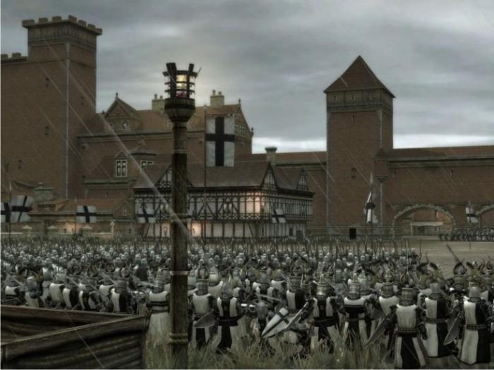 Medieval 2: Apatrullando la ciudad.