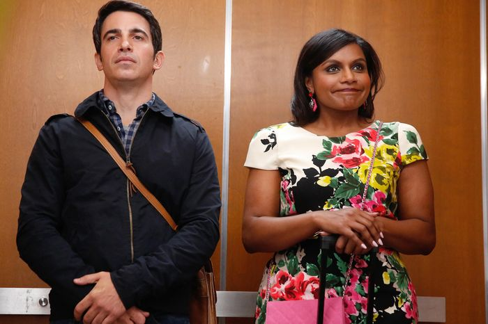 "FOR TV -- DO NOT PURGE -- THE MINDY PROJCET: Mindy (Mindy Kaling, R) convinces Danny (Chris Messina, L) that her tax troubles are easily fixed in the ""Crimes & Misdemeanors & Ex-BF's"" episode of THE MINDY PROJECT airing Tuesday, Sept. 23 (9:30-10:00 PM ET/PT) on FOX. ©2014 Fox Broadcasting Co. Cr: Jordin Althaus/FOX"