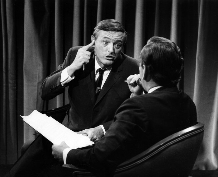 "ABC NEWS - ELECTION COVERAGE 1968 - ""1968 Elections"" - Airdate November 5, 1968. (Photo by ABC Photo Archives/ABC via Getty Images) WILLIAM BUCKLEY;GORE VIDAL"
