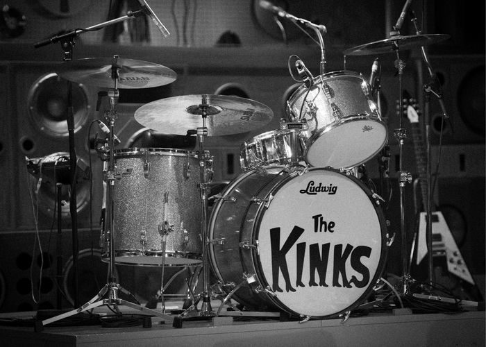 General view of The Kinks drum kit during the Sunny Afternoon photo call at the Harold Pinter Theatre in London.