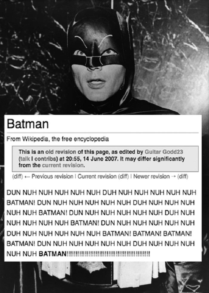 Imagen: Wikipedia vandalizada.