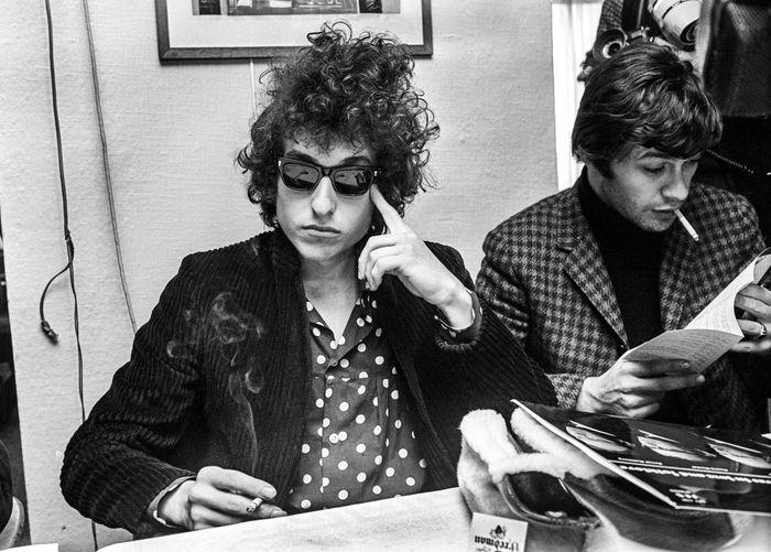 STOCKHOLM 1966-09-28 *For Your FIles* Bob Dylan during anpress conference in Stockholm, Sweden April 28, 1966 during his ' Bob Dylan World Tour 1966 Foto: Olle Lindeborg / TT / Kod: 190