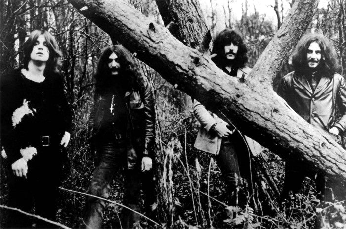 Black Sabbath en 1970. Imagen: Warner Bros. Records.