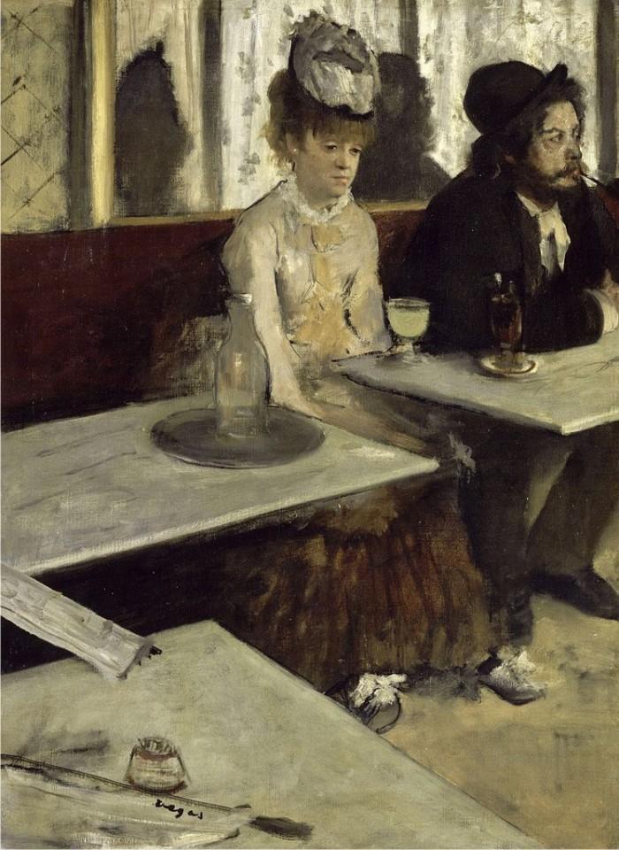 En el café o La absenta, de Edgar Degas. (DP)
