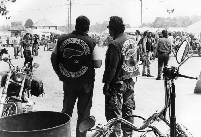 Cobbleskill, New York: Hell's Angels at Biker rally. ©Charles Gatewood / The Image Works