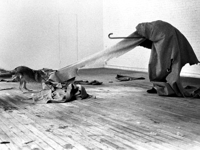 Me gusta América y a América le gusto yo, performance de Joseph Beuys,1974. Imagen: DP.