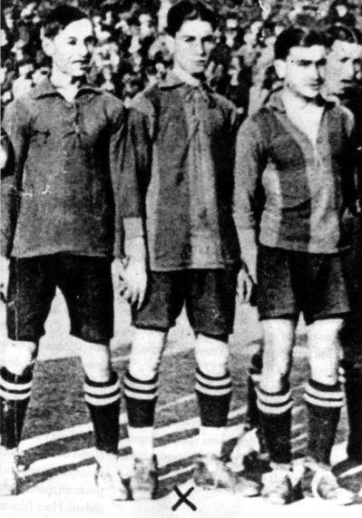 Garchi (centro) en el Fútbol Club Barcelona. Foto: DP.