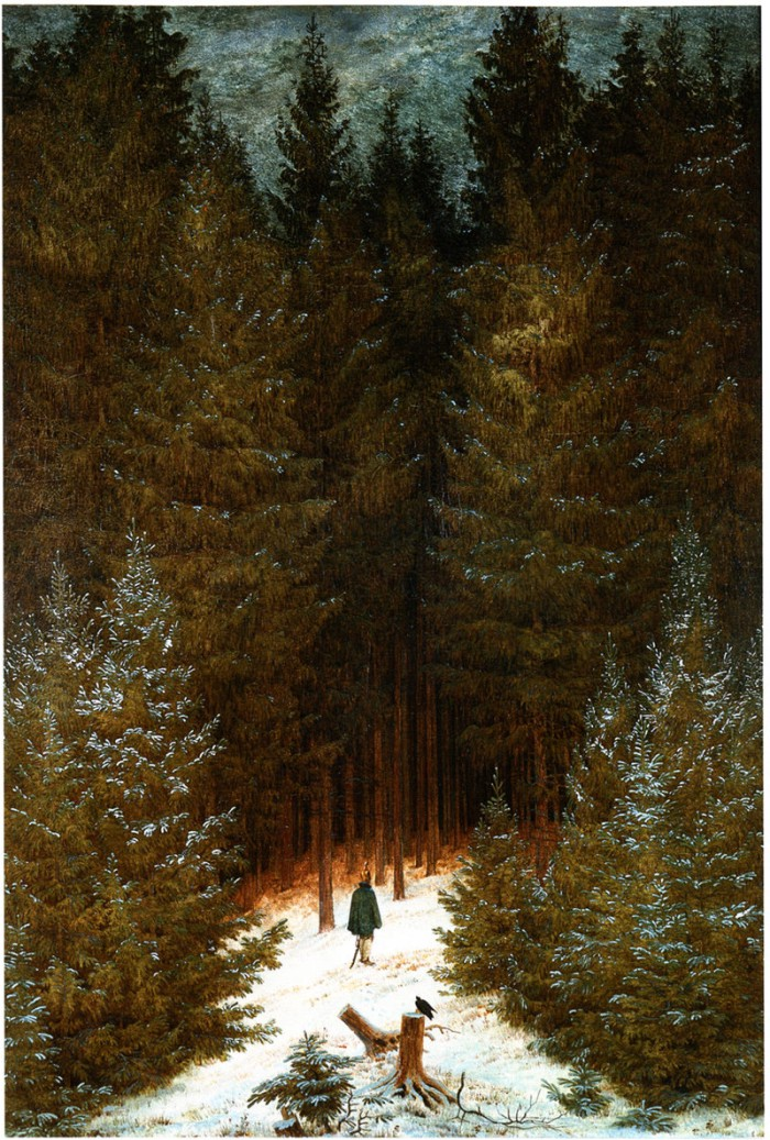 El cazador en el bosque, de Caspar David Friedrich.