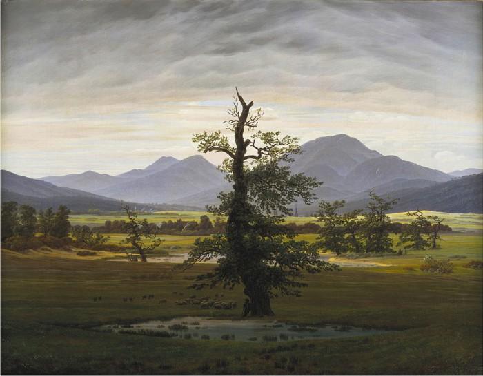 El árbol solitario, de Caspar David Friederich.
