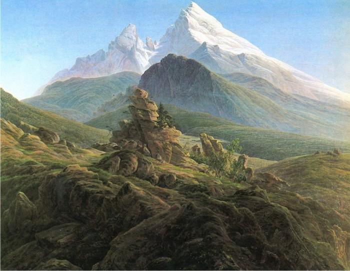 Der Watzmann, de Caspar David Friedrich.