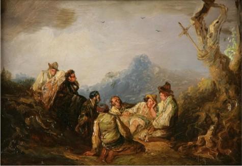Bandidos al monte, de Eugenio Lucas Velázquez.