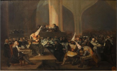 Auto de fe, de Goya.