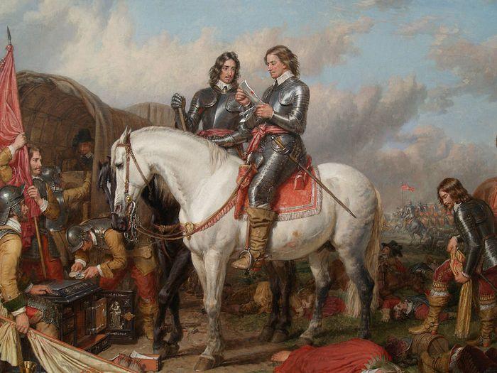 Batalla de Naseby. Charles Landseer. 02