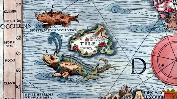 La mítica isla de Thule en la Carta Marina de Olaus Magnus DP