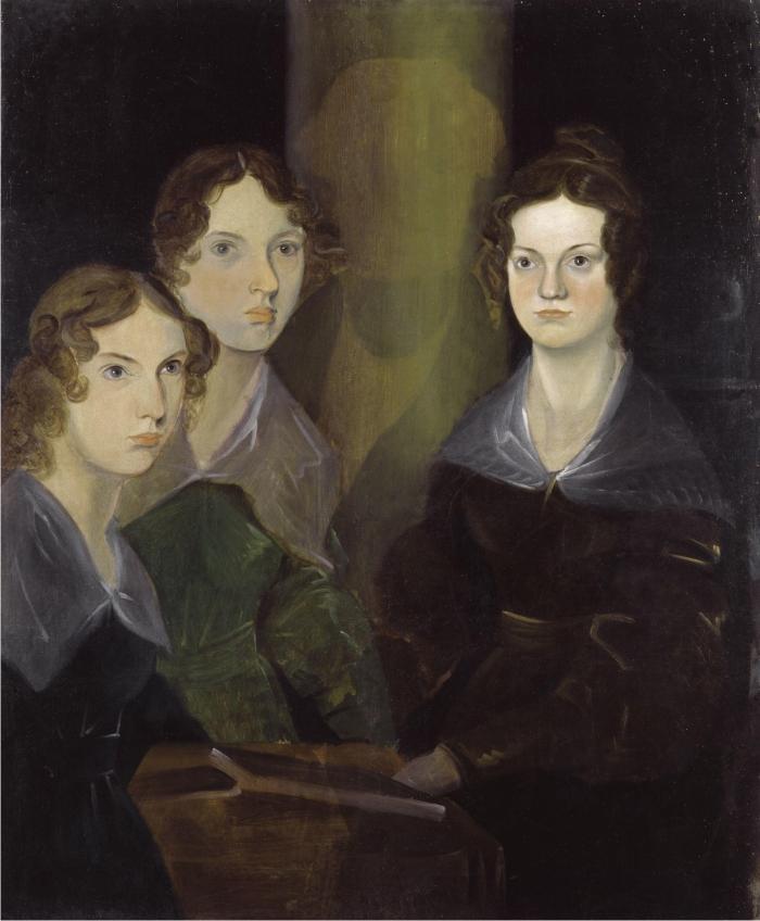 The Brontë Sisters by Patrick Branwell Brontë restored