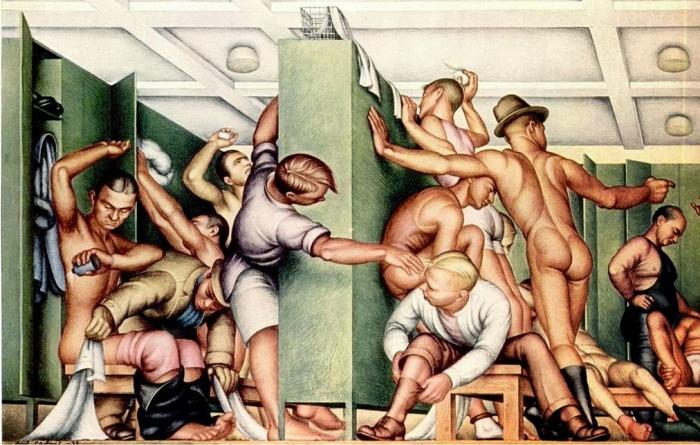 YMCA Locker Room de Paul Cadmus