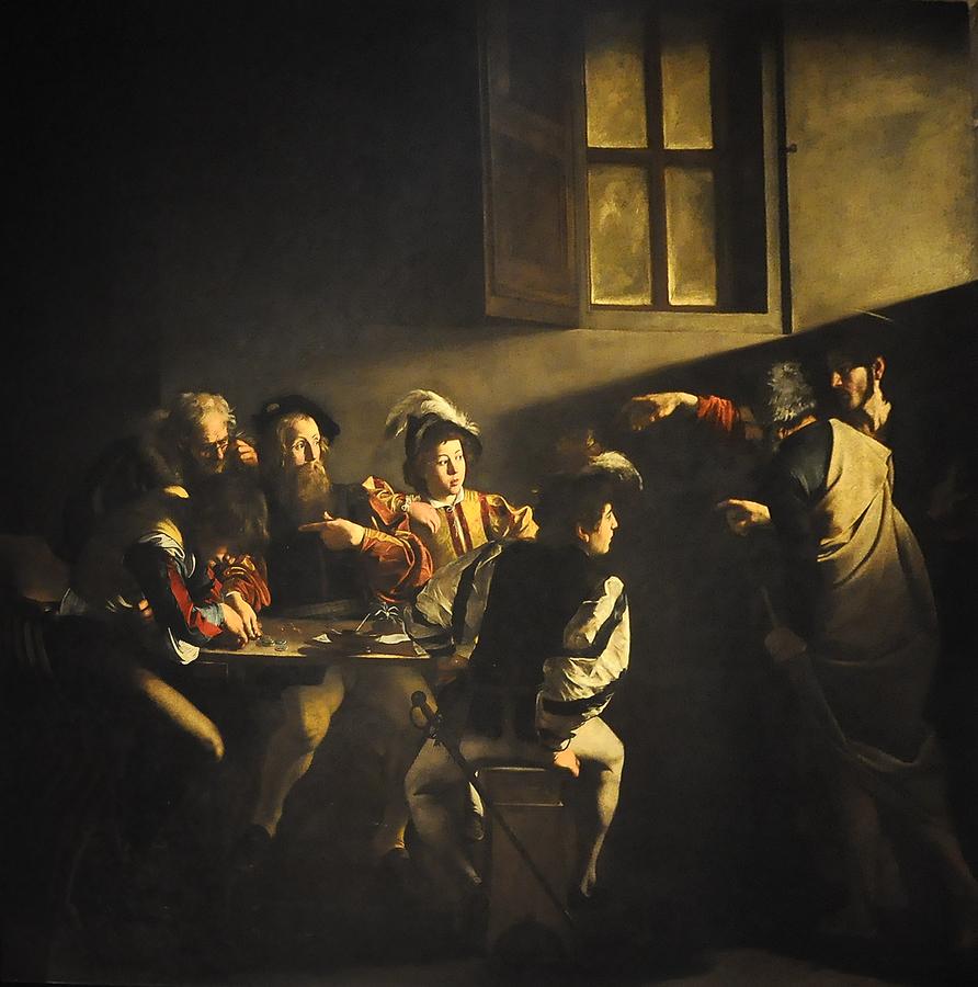 892px Caravaggio 1571 1610 De roeping van Matteüs 1599 1600 Rome San Luigi dei Francesi 10 01 2011 12 07 56