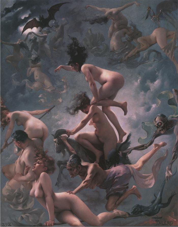 Brujas yendo al Sabbath por Luis Ricardo Falero