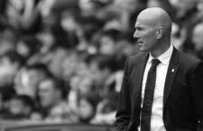 April 15, 2017 - Gijon, Asturias, Spain - Zinedine Zidane manager of Real Madrid during the La Liga Santander match between Sporting de Gijon and Real Madrid at Molinon Stadium on April 15, 2017 in Gijon, Spain. (Credit Image: © Jose Manuel Alvarez Rey/NurPhoto via ZUMA Press)