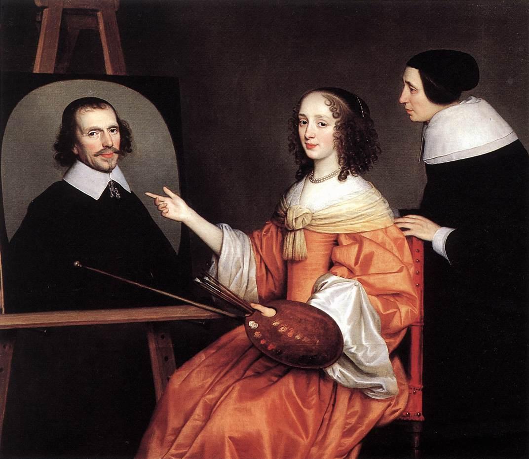 1652 Маргарита Мария де Роодере и ее родители Margareta Maria de Roodere and Her Parents 140 х 170 х.м. Утрехт Центральный музей