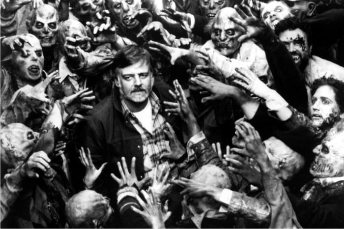 George A. Romero en el rodaje de Day of the dead. Foto Cordon.