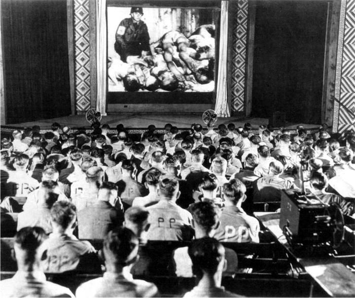 German soldiers react to footage of concentration camps 1945 2