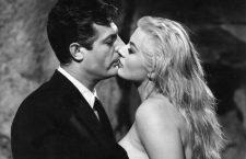 Marcello Mastroianni e Anita Ekberg en La Dolce Vita, 1960. Imagen: CIFESA.