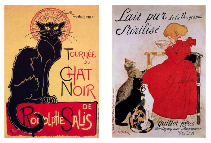 2 y 3. Tournée du Chat Noir de Rodolphe Salis Lait Pur Sterilize de la Vingeanne
